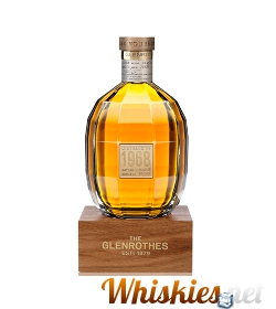 Botella del whisky The Glenrothes Vintage 1968 con su peana